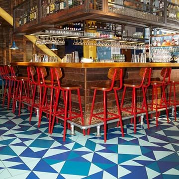 Amtico Signature flooring at Burgers & Cocktails from Giraffe, Castleford