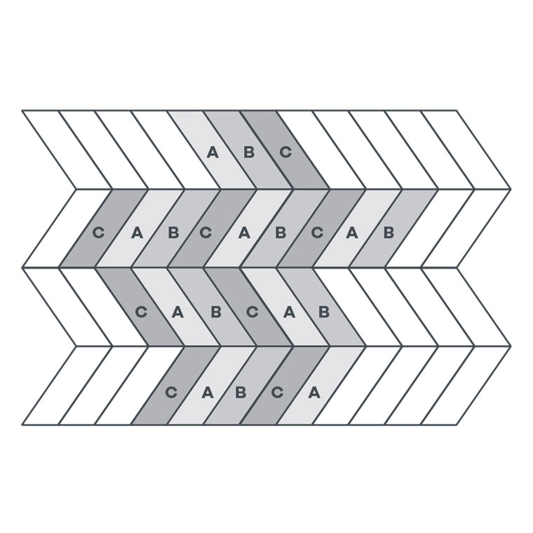 3-colour Pleat - EP127 wire image