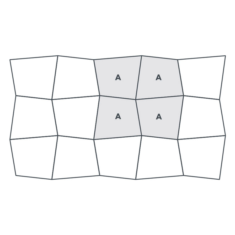 1-colour Oblique Square - EP165 wire image