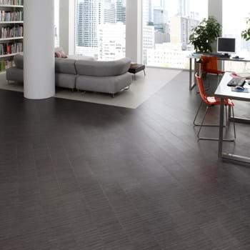 Amtico Spacia LVT in Softline Charcoal (SS5A2803) with Softline Pebble (SS5A3802)