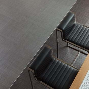 Amtico Spacia LVT in Satin Weave (SS5A3805) with Velvet Weave (SS5A2101)